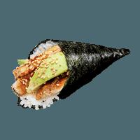 Temaki anguille du Japon avocat