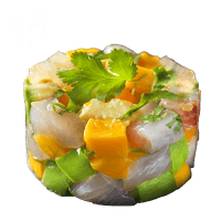 Tartare de Daurade, Mangue & Riz