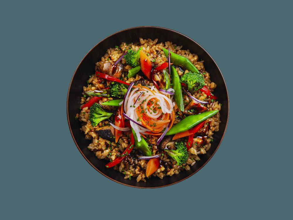 Riz sauté aux légumes