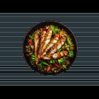 Riz sauté au poulet