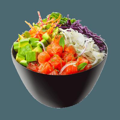 Poke bowl saumon detox